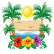 Stock Vector: Tropical label