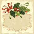 Stock Vector: Vintage Christmas card