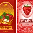 Royalty-Free Stock : Strawberry label