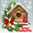 Christmas greeting card - Image vectorielle