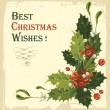 Vintage Christmas card — Stock Vector #16786441