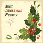ročník vánoční přání — Stock vektor
