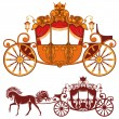 Royal carriage — Vector de stock