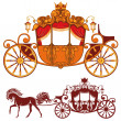 Royal carriage — Stok Vektör