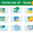 Set travel icons — Image vectorielle