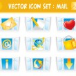 Royalty-Free Stock Vector Image: Set internet mail icons