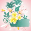 Background with flower plumeria - 图库矢量图片