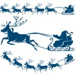 Reindeer and Santa Claus. — Stockvectorbeeld