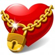 Royalty-Free Stock Vector Image: Closed heart