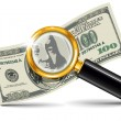 Royalty-Free Stock Imagen vectorial: Magnifier and dollar