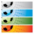 Set soccer background — Stock Vector #16786675