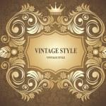 Vintage Floral Frame — Stock Vector #16786793