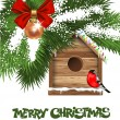 Christmas greeting card - Vettoriali Stock