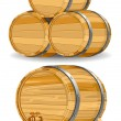 Stock Vector: Wine barrel