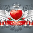 Heart with wings — Vector de stock  #16786863