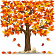 Autumn tree — Vettoriali Stock