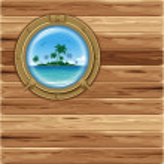 Boat porthole — Stock Vector
