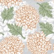 Excellent seamless pattern with chrysanthemum — Stock Vector