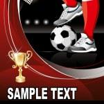 Soccer poster — Stock Vector #16787091