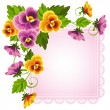 Pansy — Stock Vector