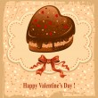 Postcard on Valentine's Day — Vettoriali Stock