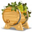 Wine barrel — Stock Vector