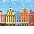Royalty-Free Stock Vector Image: Christmas in a snowy city