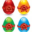 Vector de stock : Set of ornate Easter eggs