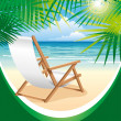 Beach Chair — Stock Vector #16787255