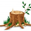 Tree stump — Stock Vector #16787267