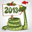 Royalty-Free Stock Vector Image: Christmas snake