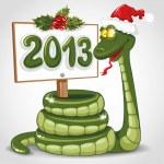 Christmas snake — Stock Vector #16787407