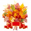 Bouquet of autumn leaves — Stock Vector