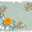 Floral grunge background — Stock Vector