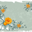 Stock Vector: Floral grunge background