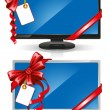 Widescreen monitors - Stock Vector