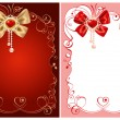 Stock Vector: Background on Valentines Day