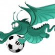 Dragon and soccer ball — Stock Vector #16787531