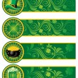 St. Patrick's Day, set of banners. — Stock Vector