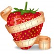 Royalty-Free Stock Obraz wektorowy: Strawberry in a measuring tape