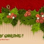 复古圣诞贺卡 — 图库矢量图片
