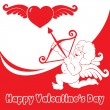 Valentine's Day Cupid — Stock Vector
