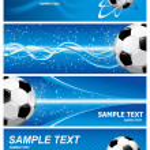Set soccer background — Stock Vector
