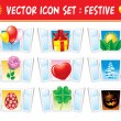 Set holiday icons — Stock Vector