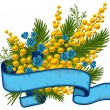 Bouquet of mimosa and forget-me-not — Stock Vector #16787701