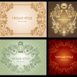 Set of Vintage Floral Frame — Stock Vector #16787723