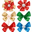 Royalty-Free Stock Vector Image: Set of Bows