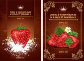 Strawberry label — Stock Vector
