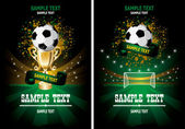 Soccer poster — Stock Vector