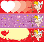 Valentine's Day Cupid — Vector de stock
